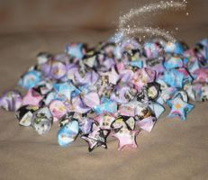Origami Lucky Stars by pprcrft5