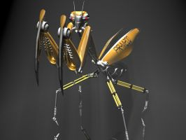 Praying mantis robot 3D by 3DSud