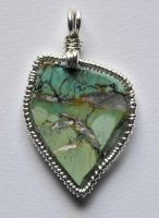 Turquoise pendant-front by lamorth-the-seeker