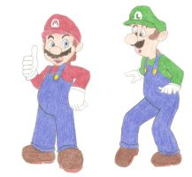 Mario and Luigi by DoctorEvil06