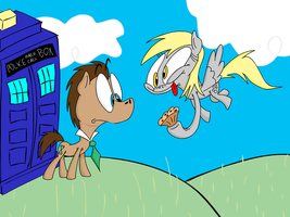 The Doctor and Derpy by NocturnalMeteor