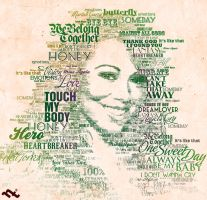 Mariah Carey Hits Typography by StoneGroove