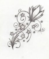 Tattoo Design Flower by Dralogel