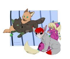 Chibi commission. SimpleLuciy by Gerbils-meriones