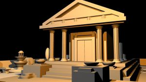 Greek Temple Final - View 5 by mhofever