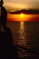 Sunset from sea - Darwin by wildplaces