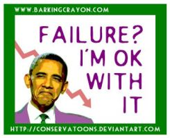 Obama's Failure by Conservatoons