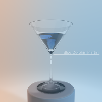 Blue Dolphin Martini - Photorealistic 3D Render by DigitalMistDesigns