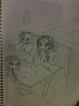 Early drawing, resturaunt scene by TruthSufferage