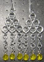Chainmaille Earring 45 by Des804