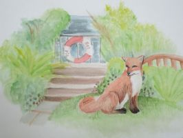Fox in the Garden by Karie-Pyre