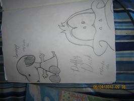 Daffy and Snoopy by TinkerbellSweetheart