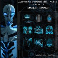 Alienware inspired iconpack by bbosa