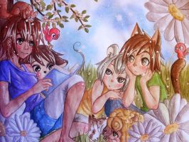 reading a fairytale by Sira123