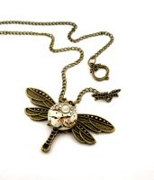 Dragonfly Toggle Clasp pendant by SteamSect