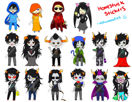 Homestuck Stickers by exjuice