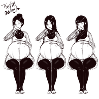Sketches 1.14.2015 Pregnant Japanese woman by Metalforever