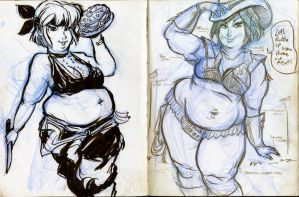 potbellied pin-ups SADC 4+5 by TheAmericanDream