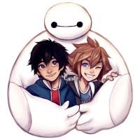 Big Hero 6 x Kingdom Hearts! + speedpainting by Cyarin