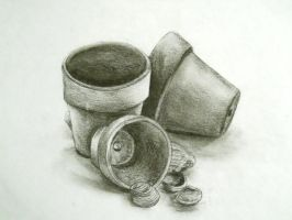 Charcoal Still Life by CrystalKaleidescope