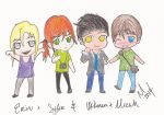 Another group of Chibis! by Calwyn