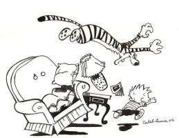 Calvin and Hobbes by Caleblewis