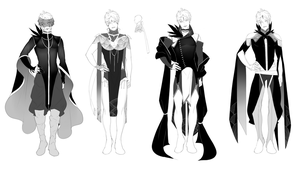 Slavers AU: Suga Alternate Outfits by shaerahaek