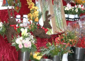 decoration and  flowers for christmas by ingeline-art