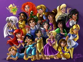 Disney Dolls Princesses by McManamanimation
