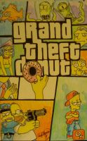 Grand Theft Donut Simpsons by OMKDrawings
