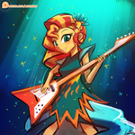 (Speed Paint) Sunset Shimmer Rocks! by luminaura