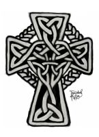 Knotted Celtic Cross by ChristiAnthemum