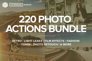 FilterGrade 220 Photoshop Actions Bundle by linspace