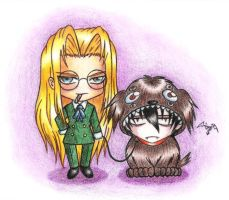 Integra and Puppycard by Pixie-van-Winkle