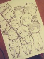 #ChibiHetalia. Uncolored poster. WIP. by Matthew-Ray