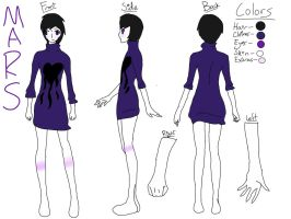 Mars reference sheet by The-Insane-Puppeteer