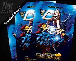 Freak Fridays Halloween Flyer Template PSD by REMAKNED