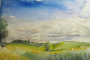 landscape with clouds by Dandeliesque