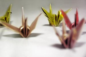 1000 Cranes For Japan by Roxas-Has-A-Stick