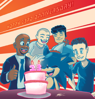 Happy 23 Anniversary Sonic by 5courgesbestbuddy