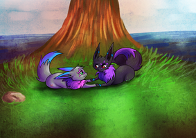 .: behind a tree :. by Aluri