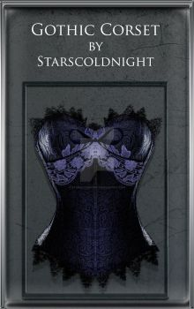Gothic Corset PNG by StarsColdNight