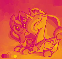Color Palette Challenge: Luna and Celestia by Ranoutofideas