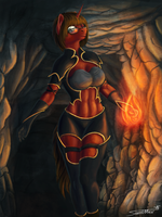 [Commission] In the cave by Sa1ntMax