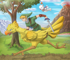 Every hero needs a Chocobo by Dragendorf