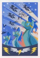 Signed Wonderbolts Poster by DuplexFields