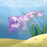 How I became the sea by GlitterBell