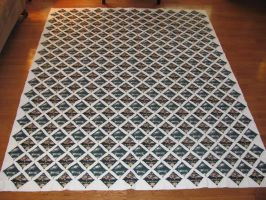 Cathedral Window quilt by quiltoni