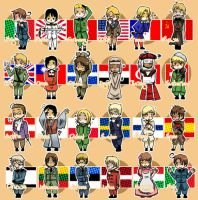 APH chibi nations 1 by Hetalia