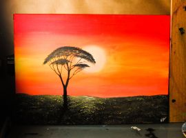 African sunset by NilleMusic
